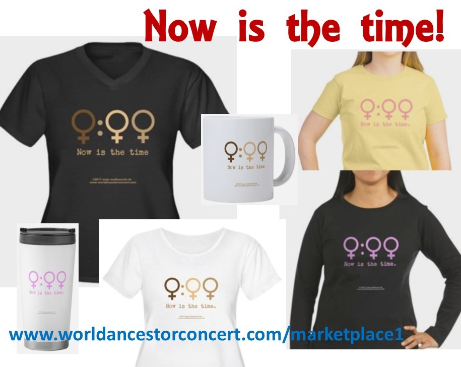 composite image of WoC/Woman Time design t-shirts
