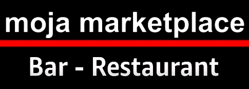 moja marketplace - Bar-Restaurant Online Store section title banner linked to section URL, white lettering on black with red lower border strip