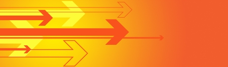 banner graphic of arrows in orange and warm tone colors